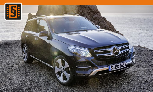 Chiptuning Mercedes GLE 350 CDI 190kw (258hp)