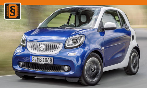 Chiptuning Smart ForFour 0.9T  66kw (90hp)