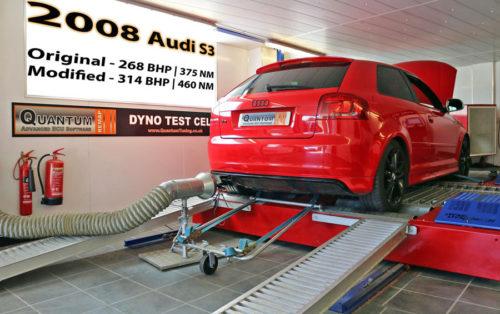 Chiptuning Audi S3 valcová zkušebna