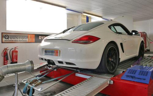 Chiptuning Porsche Cayman valcová zkušebna