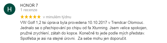 Chiptuning recenze Honor - VW Olomouc