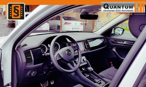 Reference Quantum Opava Chiptuning Škoda Kodiaq 2.0TDi Dashboard