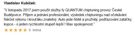 Chiptuning recenze Vlastislav Kubíček – České Budějovice