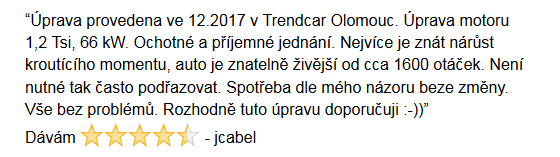 Chiptuning recenze jcabel - Olomouc