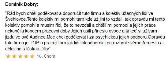 Chiptuning recenze Dominik Dobrý - Audi Praha