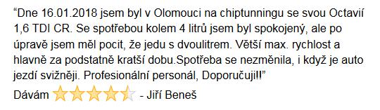 Chiptuning recenze Jiří Beneš - Škoda Octavia Olomouc