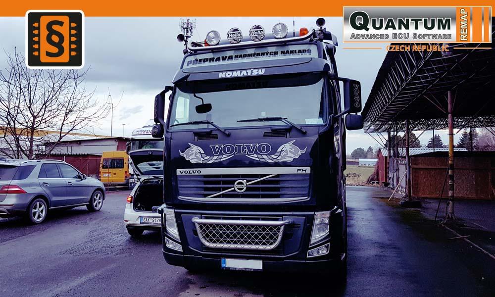 Reference Quantum Praha Chiptuning Kamionu Volvo FH13 520HP