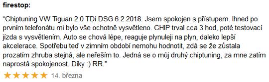 Chiptuning recenze - VW Tiguan 2.0TDi DSG