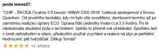 Chiptuning recenze - Škoda Octavia 2.0TSi 169kW