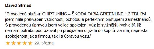 Chiptuning recenze - Škoda Fabia 1.2TDi