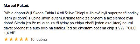 Recenze Chiptuning Škoda Fabia