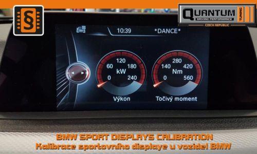 Reference Praha Chiptuning BMW 330D kalibrace sportovního dislaye