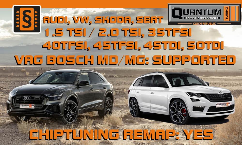 VAG - Update - chiptuning nejnovějších jednotek BOSCH MG/MD pro Audi, VW, Škoda, Seat